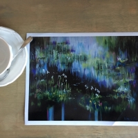 Pond Reflections III -LE Paper Print