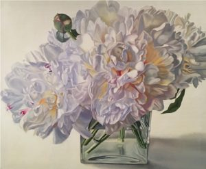 Pastel Delight - floral oil painting peonies