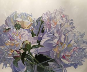 Luminous - Original floral oil painting peonies