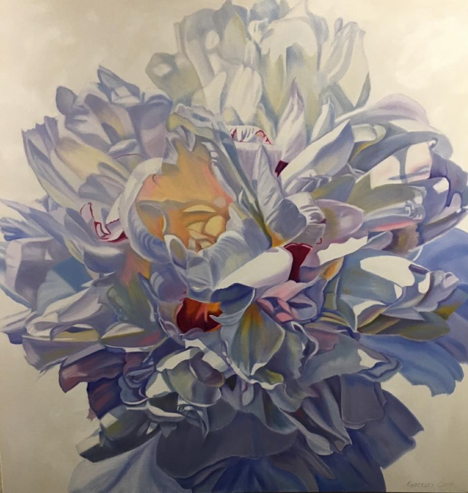 Goddess - original floral oil painting peonies