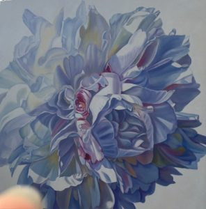 Exhilarating - original floral oil painting peonies