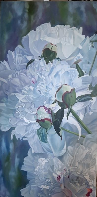 A Dream Come True - original floral oil painting peonies