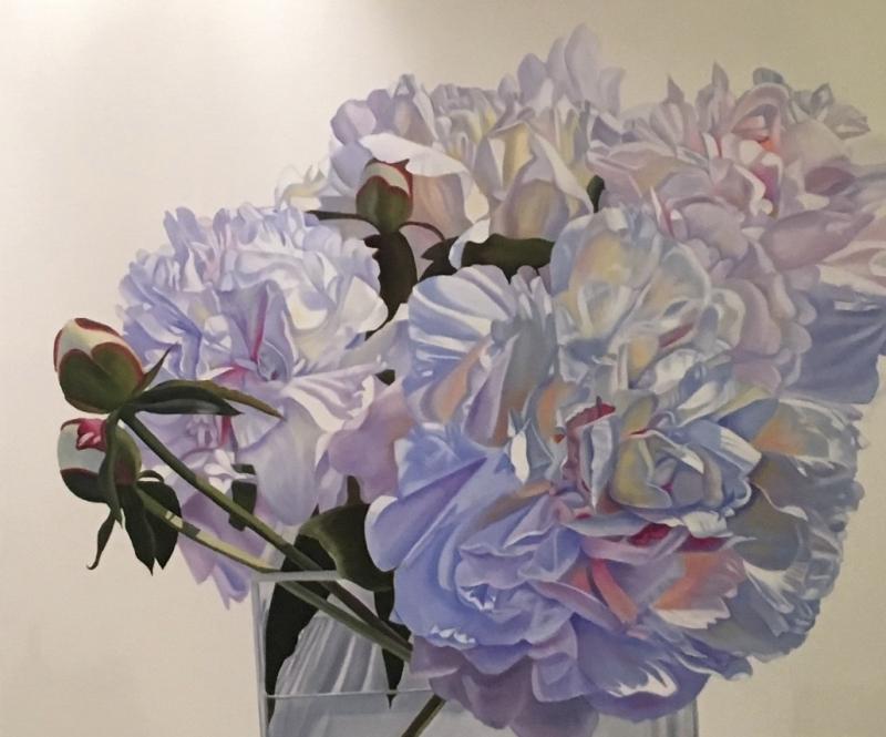 Bewitching - original floral oil painting peonies