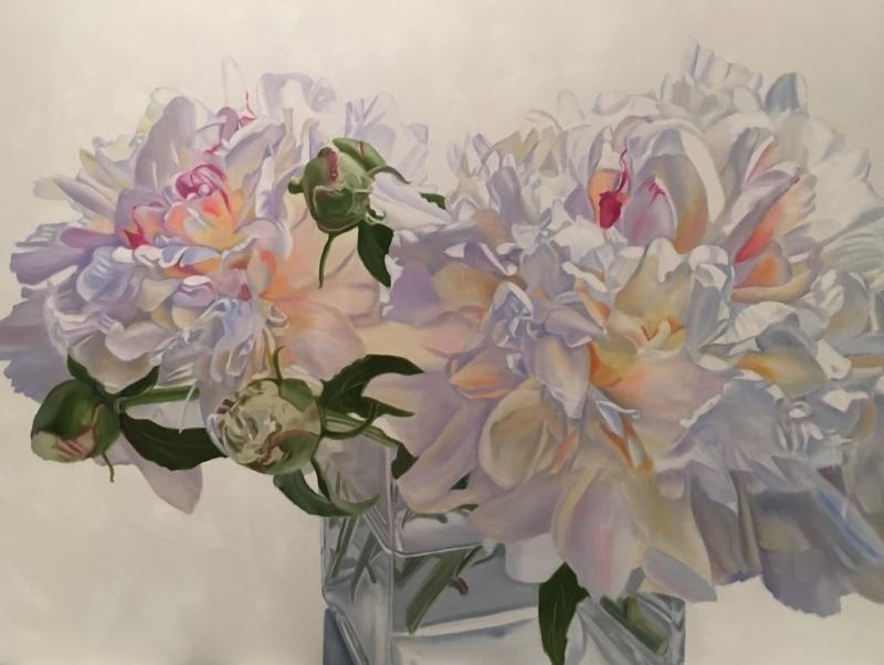 Endearment - original floral oil painting peonies