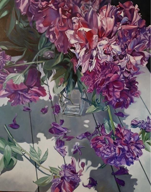 Freshly Picked - original floral oil painting peonies
