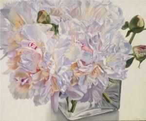 Pastel Pair - original floral oil painting peonies